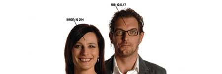Birgit en Rob presenteren De Nationale IQ-Test
