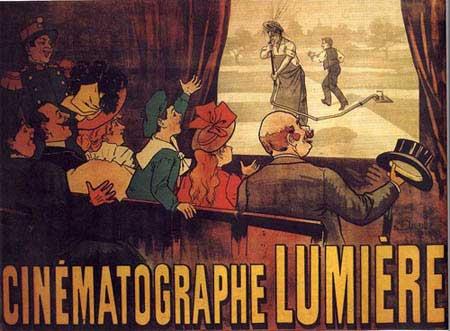 Dit is de allereerste filmposter voor het filmpje 'L'Arroseur Arrosé' van de gebroeders Lumière uit 1895. Het filmpje in kwestie duurt maar 49 seconden.