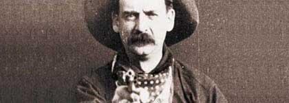 Dit is het laatste beeld uit Porter's The Great Train Robbery: één van de bandieten schiet recht in de camera.