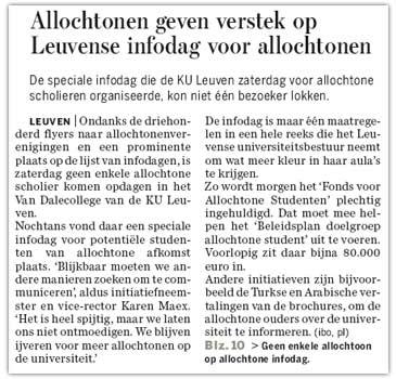K.U.Leuven infodag allochtonen