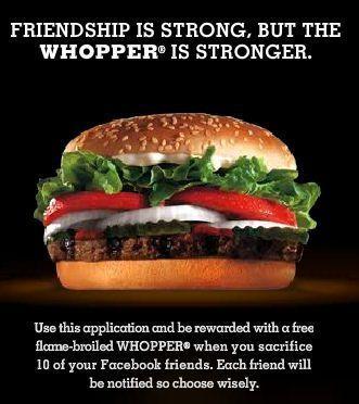 Offer je vrienden op voor een hamburger